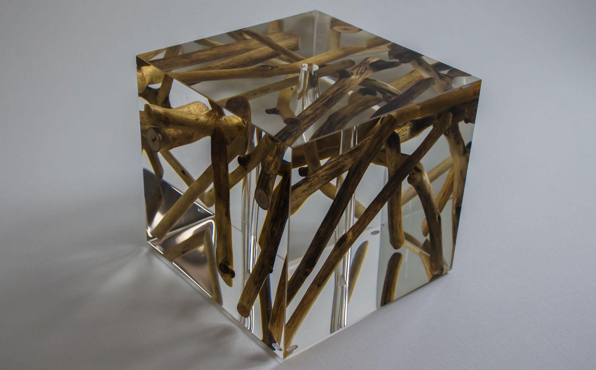 Cube en verre acrylique